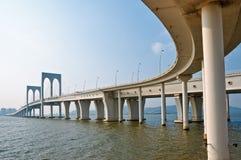 De brug van Macao Stock Afbeeldingen