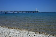 De Brug van Mackinac in Michigan royalty-vrije stock fotografie