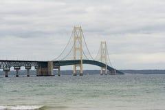 De brug van Mackinaw Stock Foto