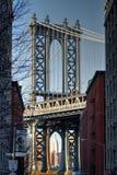 De Brug van Manhattan en de Bouw van de Staat van het Imperium Stock Fotografie