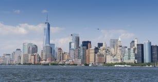 De brug van Manhattan en van Brooklyn Stock Foto