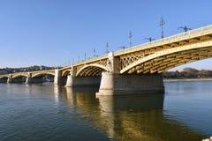 De brug van Margaret, Boedapest Stock Afbeelding