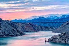 De brug van Maslenica stock fotografie