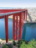 De brug van Maslenica in Kroatië, Europa Stock Afbeeldingen