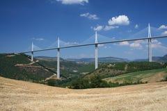 De brug van Millau in Frankrijk royalty-vrije stock afbeeldingen