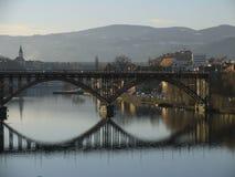 De brug van Moribor stock afbeelding