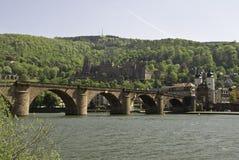 De Brug van Neckar stock afbeeldingen