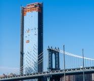 De brug van New York, Brooklyn, Lower Manhattan, de V.S. royalty-vrije stock afbeeldingen