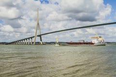 De brug van Normandië Stock Fotografie