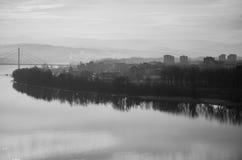 De brug van Novi Sad Stock Foto's