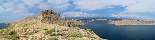 De brug van Pag Stock Foto's