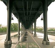 De Brug van Passy, Parijs, Frankrijk Royalty-vrije Stock Foto's