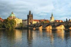 De brug van Praag - Charles-, Tsjechische Republiek Stock Foto