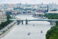 De brug van Pushkinsky Stock Afbeeldingen