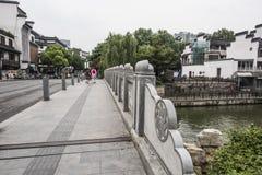 De Brug van de Qinhuairivier Stock Foto's