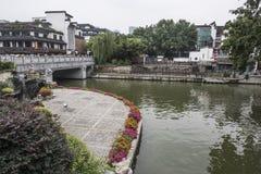 De Brug van de Qinhuairivier Stock Afbeeldingen