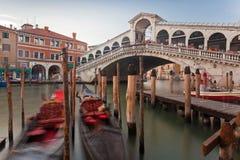 De Brug van Rialto, Venetië Stock Foto
