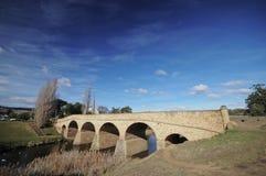 De brug van Richmond in de Winter in Tasmanige stock foto