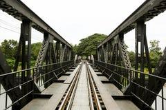 De brug van rivierkwai Stock Foto