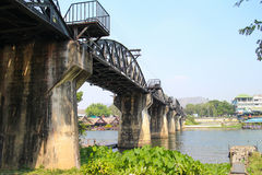 De brug van rivierkwai Stock Afbeelding
