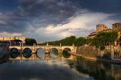 De brug van Rome Royalty-vrije Stock Foto