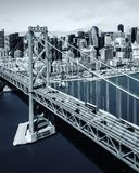 De brug van San Francisco-Oakland stock foto's