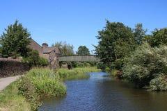 De brug van de Shawstraat, het kanaal van Lancaster, Lancaster, het UK Royalty-vrije Stock Afbeeldingen