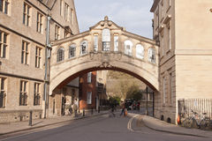 De Brug van Sighs in Oxford, het UK Stock Afbeelding