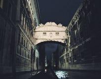 De Brug van Sighs in Venetië, Italië stock foto