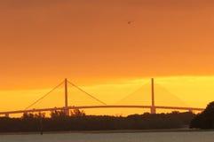 De brug van Skyway van de zonneschijn royalty-vrije stock afbeelding