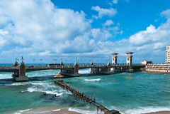De brug van Stanley over Stanley Bay Stock Fotografie