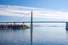 De brug van Stavanger Stock Afbeelding