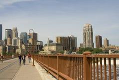 De Brug van de steenboog - Minneapolis Stock Fotografie