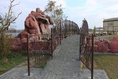 De brug van stenen Stock Foto's
