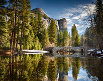 De Brug van Stoneman in Yosemite Stock Afbeeldingen