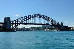 De brug van Sydney habour in de zomer Royalty-vrije Stock Afbeelding