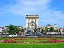 De brug van de Széchenyiketting, Boedapest, Hongarije royalty-vrije stock afbeelding