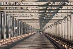 De brug van Thanlwin, Mawlamyine, Myanmar Stock Foto