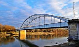 De brug van Tisza Royalty-vrije Stock Foto's