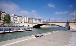 De brug van Tournelle in Parijs stock afbeeldingen