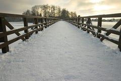 De Brug van Trakai Stock Afbeeldingen
