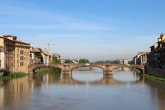 De brug van Trinita van de Kerstman van Ponte, Florence, Italië Royalty-vrije Stock Foto's