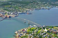 De brug van Tromso Stock Afbeeldingen