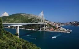 De Brug van Tudman van Franjo, Dubrovnik Royalty-vrije Stock Afbeelding