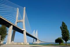 De brug van Vasco de Gama Stock Foto