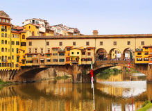 De Brug van Vecchio van Ponte in Florence, Italië Royalty-vrije Stock Foto