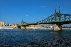 De brug van de vrijheid in Boedapest Royalty-vrije Stock Foto's