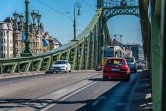 De brug van de vrijheid in Boedapest Stock Fotografie