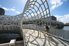 De Brug van Webb, Melbourne Stock Foto's