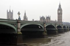 De Brug van Westminster Stock Foto's